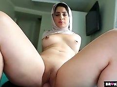 Sexy Arab cocksucker fucks in POV