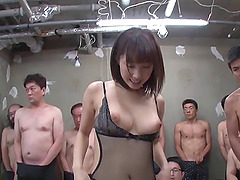 Amazing brunette from Japan in the..