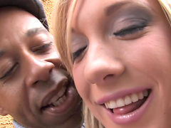 Amy Brooke enjoys black cock double..