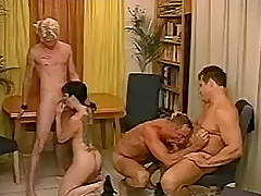 Hunky men fucking asshole, pussy and..