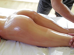 August Ames has her ass massaged and..