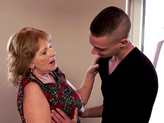 Sally gets a young angry cock to fill..