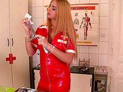 Cathy's tight anus receives the..