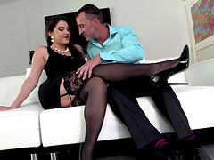 Sex Italian milf on high heels being..