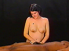 Lecherous amateur cowgirl with big..