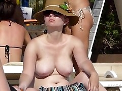 Milky white big natural tits on a cute..