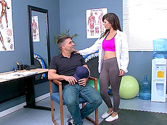 Sporty and athletic doctor gets fucked..