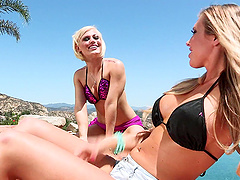 Big tits Samantha Saint in bikini..