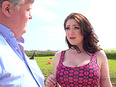 Farm girl with big tits can't resist..