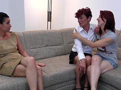 Lucky mature woman has a lesbian..
