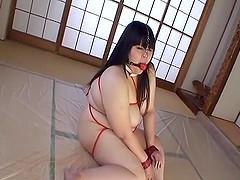 Subtitled BBW Japanese land whale..