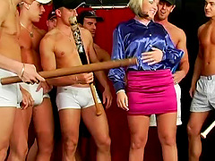 Chubby blonde receives dozens of loads..
