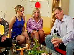 Businesswomen get fucked and jizzed on..