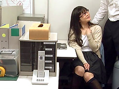 Appealing Japanese lass with glasses..