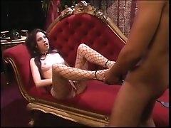 Mistress gives her subby boy a footjob
