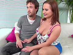 Arousing Katja masturbates and has her..