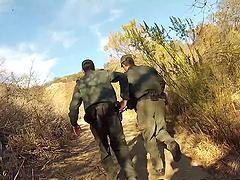 Big dick border patrol agent fucks a..