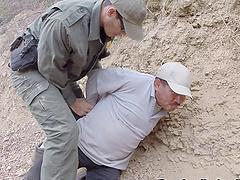 Horny border patrol officer fucks a..