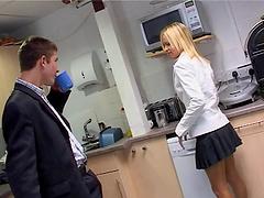 Lovely ebony babe in miniskirt enjoy..