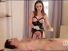 Sadistic mistress finds pleasure in..