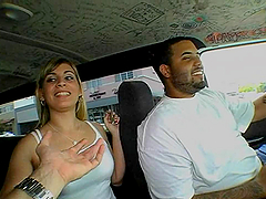 Slutty Danielle fucks in Bangbus for..