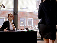 Secretaries romance each other in the..