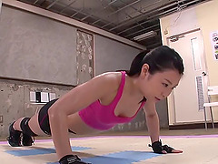Sports bras look sexy on the Japanese..
