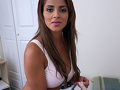 Big breasts glamour girl fucked in her..