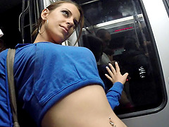 Slut from the subway train gangbanged..