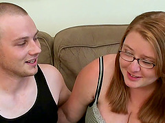 Nerdy BBW does her first ever porn..