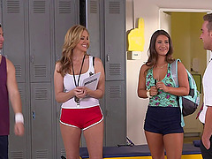 Gym teacher Julia Ann fucking an..