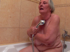Curvy granny slut eaten out and fucked..