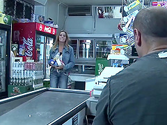Convenience store clerk and a slutty..