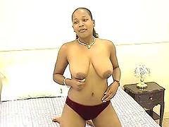 Ebony-skinned whore with massive..