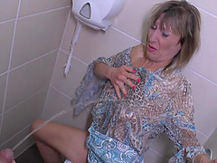 Horny housewife sucks the cock of the..