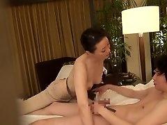 Gorgeous hotel masseuse fools around..