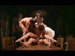 Vintage French BDSM movie with group..