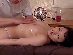 Sensual Japanese massage ends up with..
