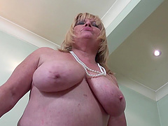 Busty blonde frees the starved cock..