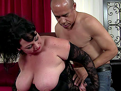 Fatty and an older guy with a big cock..