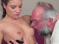 Horny grandpa fucks one of the cutest..