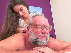 Massage and crazy ass fingering action..