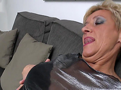 Mature pussy is nice and wet as the..