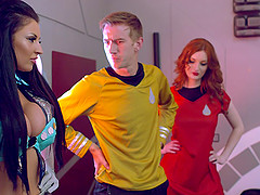 Captain Kirk's dick is quite big and..