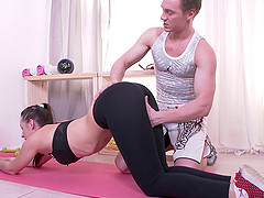 Horny instructor gladly penetrates the..