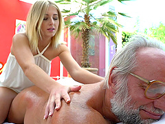 Old man orders up a massage and fucks..