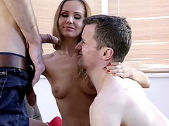Curvy Russian maiden moaning while her..