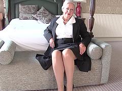 Granny has an elegant lingerie set..