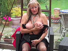 Brilliant matured granny stripteasing..