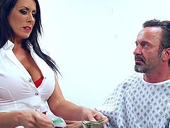 Busty Reagan Foxx is a kinky nurse who..